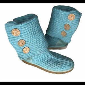 Ugg blue Cardy button boots